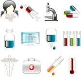иконы медицинские Стоковые Изображения RF