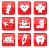 иконы медицинские Стоковое фото RF