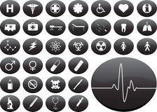 иконы медицинские Стоковая Фотография RF