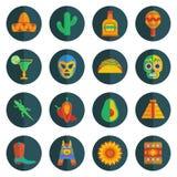иконы мексиканские Стоковые Изображения