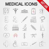 иконы медицинские Линия искусства бесплатная иллюстрация