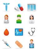 иконы медицинские Стоковое Изображение