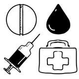 иконы медицинские Стоковое Изображение RF