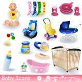 иконы младенца Стоковая Фотография