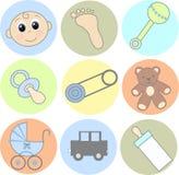 иконы младенца Стоковые Изображения RF