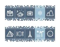 иконы направляющего выступа штанги туристские Стоковые Изображения