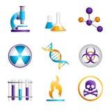 Иконы науки иллюстрация вектора