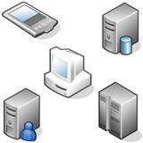 иконы оборудования данных Стоковое Изображение RF