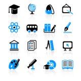 иконы образования Стоковые Изображения