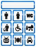 иконы обслуживают установленные знаки иллюстрация вектора