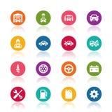 Иконы обслуживания автомобиля Стоковое Изображение RF