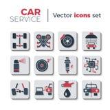 Иконы обслуживания автомобиля Стоковое Изображение