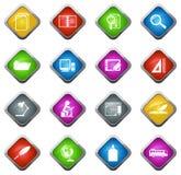 иконы обучают комплект Стоковые Фотографии RF