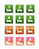 иконы общежития вмещаемостей Стоковые Фотографии RF