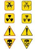 иконы опасности Стоковое Изображение