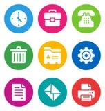 Иконы офиса цвета иллюстрация вектора