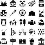 Иконы парка атракционов Стоковое фото RF