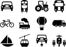 Иконы перевозки Стоковые Изображения