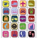 Иконы перевозки Стоковые Фото