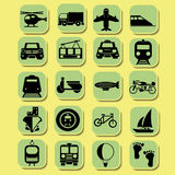 Иконы перевозки Бесплатная Иллюстрация