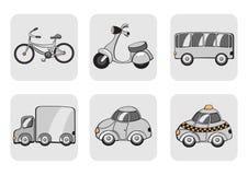 Иконы перевозки Стоковая Фотография