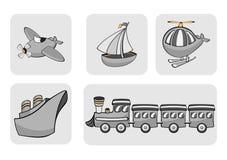 Иконы перевозки Стоковая Фотография RF