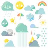 Иконы погоды Стоковое Изображение RF