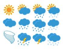 Иконы погоды Стоковые Изображения