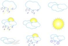 Иконы погоды стоковое фото rf
