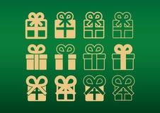 Иконы подарка стоковое фото rf