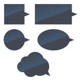иконы пузырей установили речь Стоковые Фотографии RF