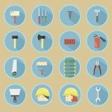 иконы плотников другие работники инструментов водопроводчиков Стоковые Фотографии RF