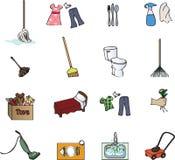 иконы работы по дома диаграммы Стоковая Фотография