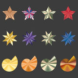 Иконы различных форм  Стоковое фото RF