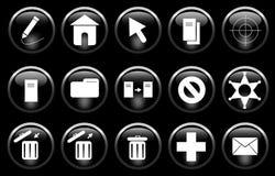 иконы разносторонние Стоковое Изображение RF