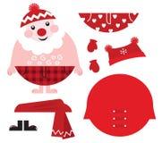 иконы ретро santa платья рождества вверх по вашему бесплатная иллюстрация