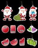 иконы рождества симпатичные иллюстрация вектора