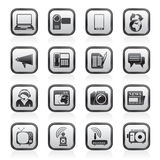 Иконы связи и технологии Стоковые Фотографии RF