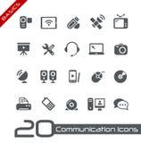 иконы связи основ Стоковые Фотографии RF