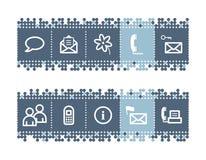 иконы связи штанги Стоковые Фото