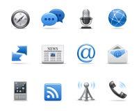 иконы связи Стоковое Изображение