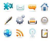 Иконы связи Стоковая Фотография