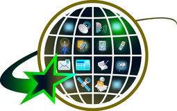 иконы связи Стоковые Фотографии RF