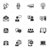 иконы связи Стоковые Изображения RF