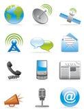иконы связи Стоковое Изображение RF