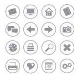 иконы серого цвета ball01 Стоковые Изображения RF