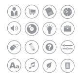 иконы серого цвета ball02 Стоковая Фотография