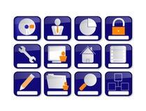 Иконы сети Стоковое Изображение