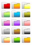 иконы скоросшивателя Стоковые Фотографии RF