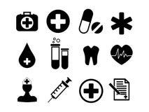 иконы собрания медицинские Стоковые Изображения RF